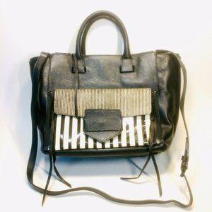 Rebecca Minkoff Striped Leather Crossbody Tote Bag